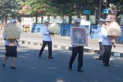 Buriram Tajlandia, Październik, - 26, 2017: Tajlandzki rządowy oficer wewnątrz Zdjęcie Stock