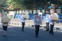 Buriram Tajlandia, Październik, - 26, 2017: Tajlandzki rządowy oficer wewnątrz Obraz Stock