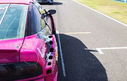 Buriram Tajlandia Samochód wyścigowy ściga się na śladzie Obraz Royalty Free