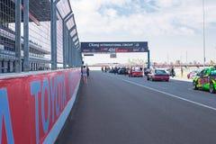 Buriram Tajlandia Samochód wyścigowy ściga się na śladzie Fotografia Royalty Free