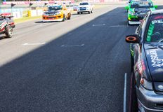Buriram Tajlandia Samochód wyścigowy ściga się na śladzie Fotografia Stock