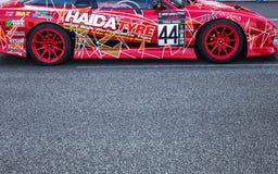 Buriram Tajlandia Samochód wyścigowy ściga się na śladzie Obrazy Royalty Free