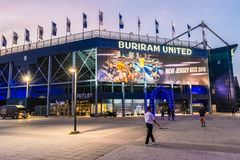 Chang Arena Standard Field Large capacity of 20000 seats Buriram East of Thailand. stock image