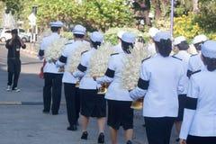 Buriram, Thailand - 26. Oktober 2017: Thailändischer Regierungsoffizier herein Stockbilder