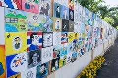 Buriram, Thailand - 26. Oktober 2017: Thailändisches Künstlerfarbe portrai Lizenzfreies Stockfoto