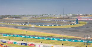 Buriram Thailand. Race car racing on a track. Stock Photography