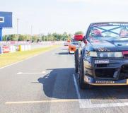 Buriram Thailand. Race car racing on a track. Royalty Free Stock Photography
