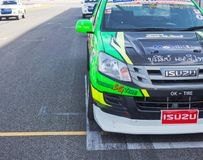 Buriram Thailand. Race car racing on a track. Royalty Free Stock Image