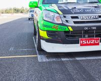 Buriram Thailand. Race car racing on a track. Stock Images