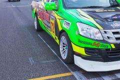 Buriram Thailand. Race car racing on a track. Stock Photos
