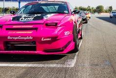 Buriram Thailand Raceauto die op een spoor rennen royalty-vrije stock foto's