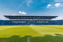 Buriram uniu o clube tailandês do futebol da liga imagem de stock royalty free