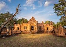 BURIRUM,THAILAND - DECEMBER 07, 2018: PRASARTHIN MUANGTAM or THE STONE CASTLE MUANG TAM at Prakhonchai District royalty free stock photo