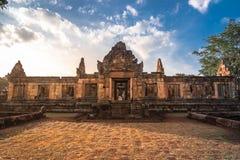 BURIRUM,THAILAND - DECEMBER 07, 2018: PRASARTHIN MUANGTAM or THE STONE CASTLE MUANG TAM at Prakhonchai District stock photography
