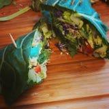 Buritos del veggie de la col com n Foto de archivo