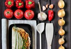 Buritto με τις φρέσκα ντομάτες και το κρέας Στοκ Φωτογραφίες