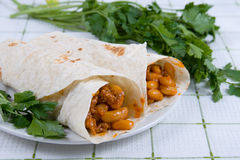 Buritto - traditional Mexican food Stock Photo