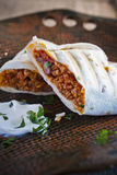 Burittos. Mexican burittos  meat  and cheese Stock Image
