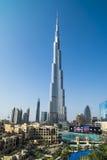 Burj哈利法和发展 免版税图库摄影