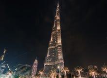 Burj哈利法和围拢 免版税库存照片