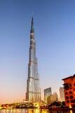 Burj哈利法在迪拜 免版税库存图片