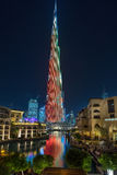 Burj哈利法在迪拜 库存图片