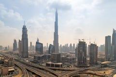 Burj哈利法都市风景全景 库存照片