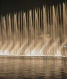 Burj哈利法音乐会喷泉 免版税库存照片