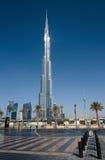 Burj哈利法-在街市Burj迪拜的世界的最高的塔 免版税库存照片