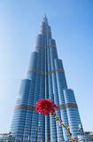 Burj哈利法-在街市Burj迪拜的世界的最高的塔 免版税库存图片