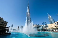burj迪拜khalifa 库存图片