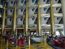 Burj阿拉伯人的大厅 免版税库存照片