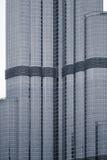 Burj Дубай, детализированный фасад. Стоковые Фотографии RF