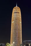 Burj Катар на ноче, Doha Стоковая Фотография RF
