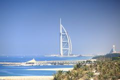 Burj Al阿拉伯人Jumeirah度假旅馆 免版税图库摄影