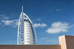 Burj Al阿拉伯旅馆在迪拜 免版税图库摄影