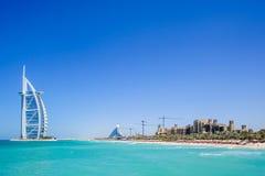 Burj Al阿拉伯旅馆,迪拜,阿拉伯联合酋长国 免版税图库摄影