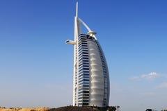 Burj Al阿拉伯旅馆,迪拜,阿拉伯联合酋长国 免版税库存照片