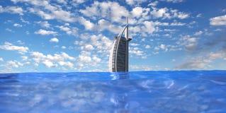 Burj Al阿拉伯豪华旅馆在Dubaj,阿拉伯联合酋长国 免版税库存照片