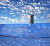 Burj Al阿拉伯豪华旅馆在Dubaj,阿拉伯联合酋长国 免版税库存图片
