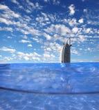 Burj Al阿拉伯豪华旅馆在Dubaj,阿拉伯联合酋长国 免版税图库摄影