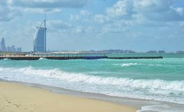 Burj Al Arab è il solo hotel di 7 stelle nel mondo Immagini Stock