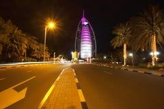 Burj Al Arab. The Burj Al Arabis a luxury hotel located in Dubai, United Arab Emirates. Canon 5DmarkII Royalty Free Stock Photo
