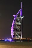 Burj al arab. World famous luxury hotel in dubai, shot taken from jumeirah beach Stock Photo