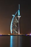 Burj al arab. World famous luxury hotel in dubai, shot taken from jumeirah beach Royalty Free Stock Photo