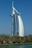 Burj al arab. World famous luxury hotel in dubai, shot taken from jumeirah beach Royalty Free Stock Image
