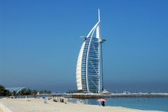 Burj al arab. World's first seven star hotel Royalty Free Stock Images