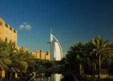 Burj Al Arab. The Burj Al Arab Hotel in Dubai, UAE, taken from Madinat Jumeirah stock photo