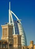 Burj Al Arab. The Burj Al Arab Hotel in Dubai, UAE, taken from Madinat Jumeirah stock images