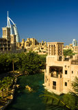 Burj Al Arab. The Burj Al Arab Hotel in Dubai, UAE, taken from Madinat Jumeirah stock photos